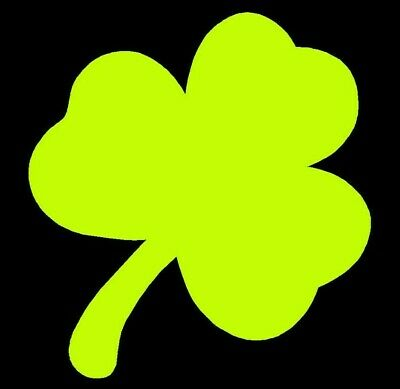 "Reflective Vinyl 4 Leaf Clover//Shamrock Fire Helmet Decal Sticker 2/"" Mtpl Colors"