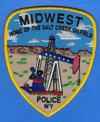 Midwest Police Department Patch ~ Wyoming ~ Beautiful Design & Colors ~ L@@k