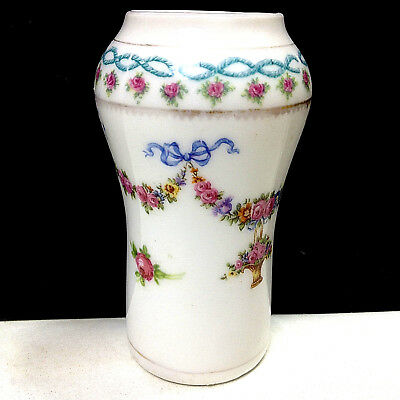 Antique Vintage Porcelain Mini VASE Rose Garland 11938