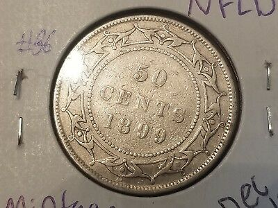 1899  NFLD Newfoundland silver 50 cent coin (86)