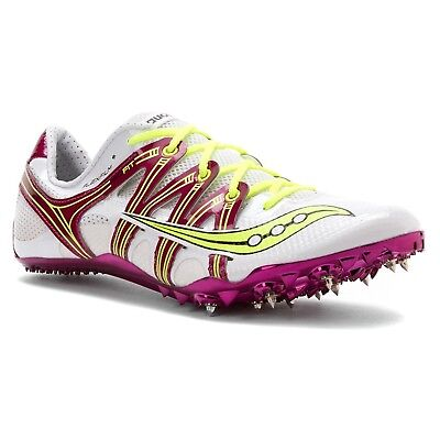 (12 B(M) US, White/purple/citron) - Saucony Women's Showdown 2 Track Shoe