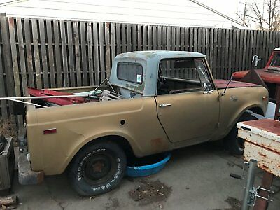 1970 International Harvester Scout pickup 1970 international scout pickup 2 vehicles 1 with motor and 1 without motor