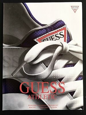 1992 Vintage Print Ad GUESS Athletic Footwear Shoes Foot Fashion 90's