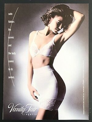 1992 Vintage Print Ad VANITY FAIR Lingerie Woman's Underwear Fashion 90's