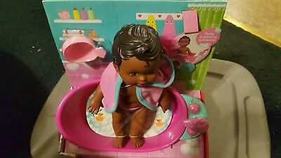 Little Mommy Bubbly Bathtime African-American Doll 2012