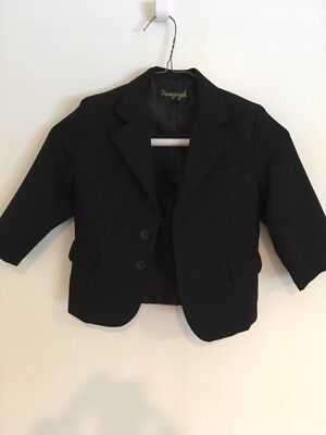 Boys 3-piece suit or tuxedo Black by Vangogh (Italy)- Size 2T