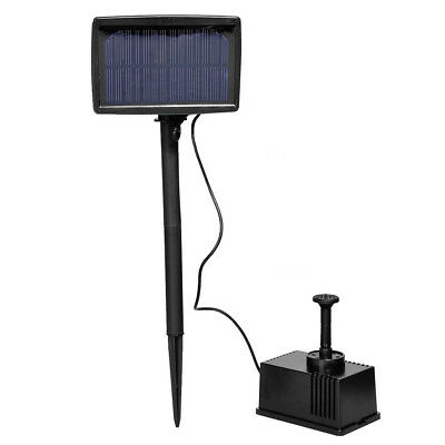 Solar Panel Powered Fountain Garden Pool Pond Submersible Water Pump 5m D SK
