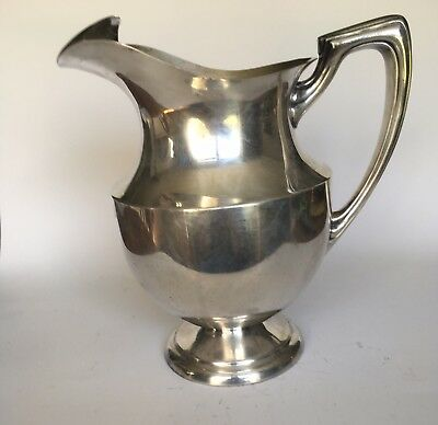Elegant Crescent Silver Co Water Pitcher/Jug Silverplate