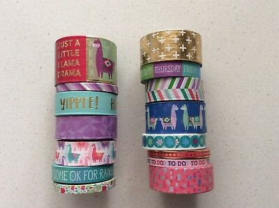 Recollections Washi Tape Tube, Llama Mix 2 15 rolls washi tape, planner