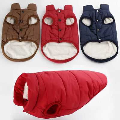Dog Pet Winter Warm Coat Sweater Puppy Fleece Vest Jacket Tops Extra Small/Large