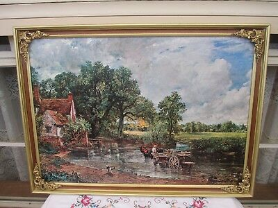 Beautiful Vintage Ornate Framed Print The Hay Wain By John Constable