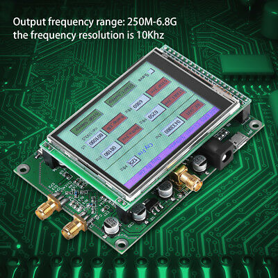 New ADF4355 250M-6.8GHz LCD Sweep RF Signal Generator VCO Microwave Synthesizer