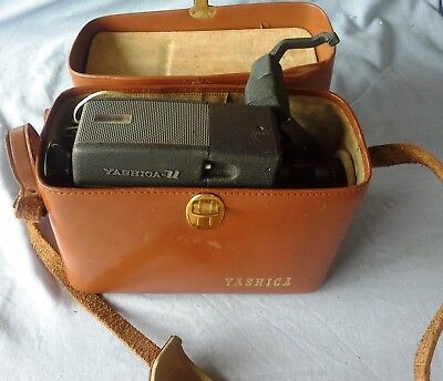Yashica U Matic, Vintage Movie Camera, with Brown Leather Case, Not Tested
