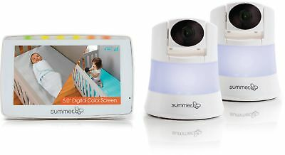 "Summer Infant In View 2.0 Duo, Video Baby Monitor, 2 Cameras, 5"" Screen LCD disp"