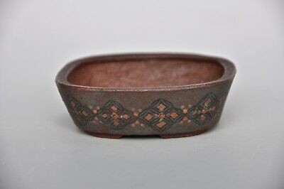 Sano Daisuke collectible Japanese mame or accent painted bonsai pot rare clay