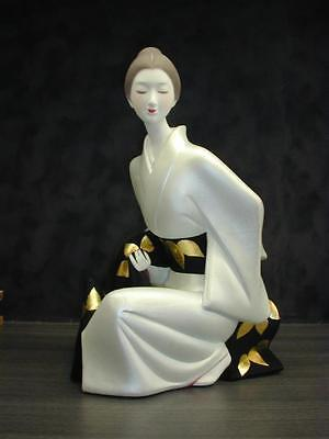 "Japanese traditional craft HakataDoll with glass case ""Obi"" made by Susumu Ueki"