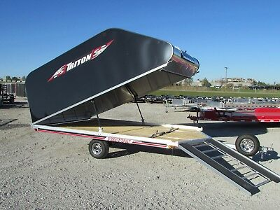 Triton 12' Enclosed Snowmobile Trailer *on/off Elite Model*year End Sale @ Dr