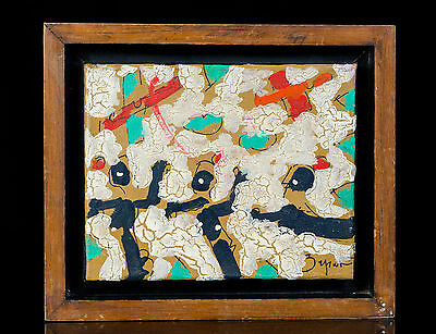Painting Of 3 Men By Mexican Artist Felix Zapata Signed & Framed