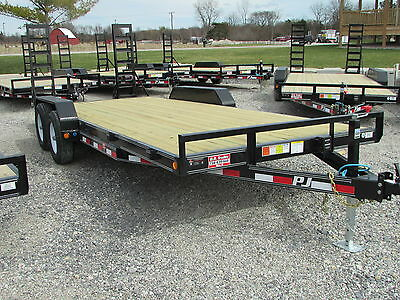 New Pj 20 Ft Equipment Flatbed Trailer *year End Sale Going On @  Dr Trailer