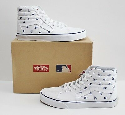 ac89278695 VANS SK8 HI MLB Los Angeles Dodgers True White Men s Size 8.5 -  49.95