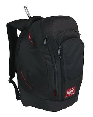 (Black) - Rawlings Baseball Legend Pro Backpack. Free Delivery