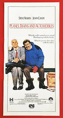 PLANES, TRAINS AND AUTOMOBILES -Original 1988 Video Release Daybill Movie Poster