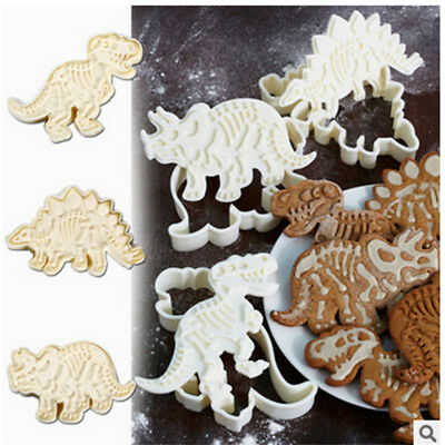 Dinosaur Cookies Cutter Biscuit Mould Baking Tool Bakeware Kitchen Mold 3pcs/set