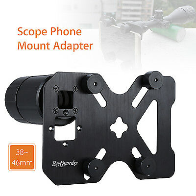 Scope Cell Phone Mount Adapter Spotting Holder 38-46MM W/ Plate For Microscope