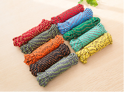 Washing Line Rope Clothes Poly Laundry Kitchen Garden Camping Extra Strong