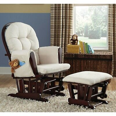 Nursery Glider Ottoman Baby Set Rocking Chair Rocking Wood Furniture Cherry New