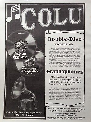 1909 Ad(G19)~Columbia Phonograph Co. Nyc. Columbia Double-Disc Records