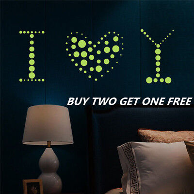 400× Glow in the Dark Star Round Dot Luminous Wall Stickers Home Decoration