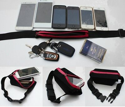 Men Cycling Running Marathon Gym Belt Water Bottle Phone Keys Holder Waist Bag