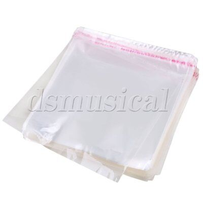"500 pieces 6.3x6.1"" Plastic Clear Resealable Sleeves for CD Jewel Case"