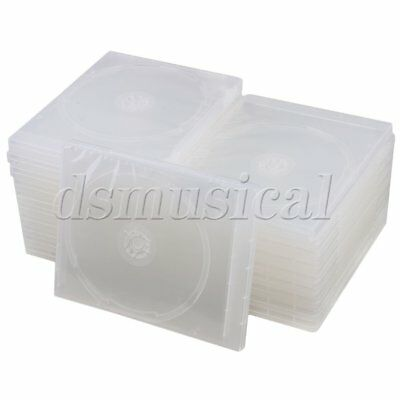 20PCS 135x170x10mm Clear Square Plastic Single Case for CD/DVD Container