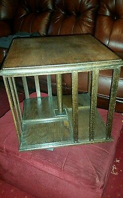 Antique  desk  top  rotating  book case