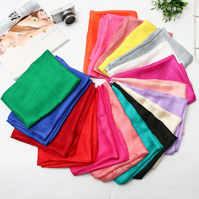 New Fashion Women Ladies Silk Long Scarf Wraps Shawl Soft Bandana Scarfves Gift