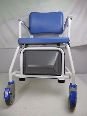"HCRAFT Atlantic Bariatric Commode and Shower Chair with Footrests 17""seat"