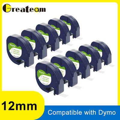 LT 91330 91200 Compatible for DYMO Letra Tag Label Tape Cassette Cartridge 12mm