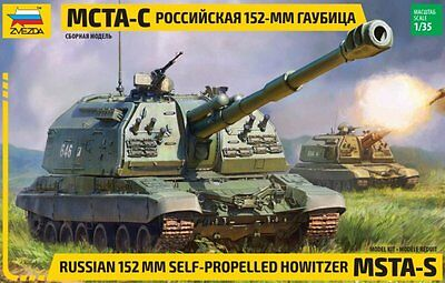 1:35 Zvezda #3630 Russian 152 mm self-propelled Howitzer MSTA-S  Neuheit / NEW !