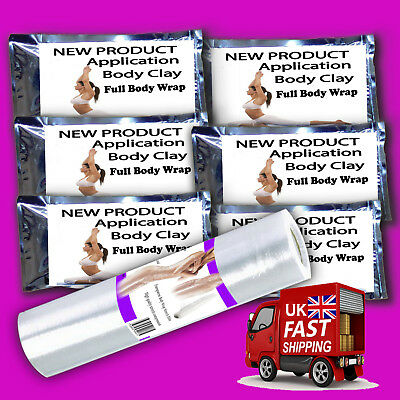5 day special 6 full inch loss body clay wraps plus free saran slimming film