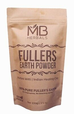 Pure Multani Mitti Fullers Earth Indian Healing Clay Bentonite Natural Face Mask