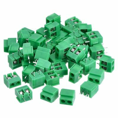 50 Pieces 2 Pin 5 mm Pinch PCB Mount Screw Terminal Block Connector 300V 10 S4B8