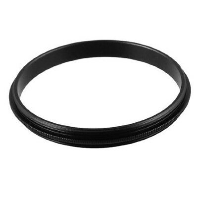 52mm Male to Male Metal Step Ring Adapter Black for Camera T8K4 U1H5