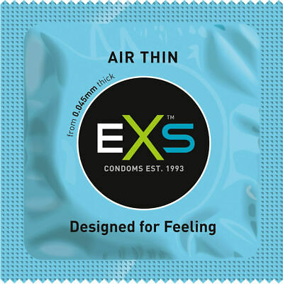 EXS Air Thin Ultra Thin Condoms - Select Your Pack Size- Fast Free UK Post