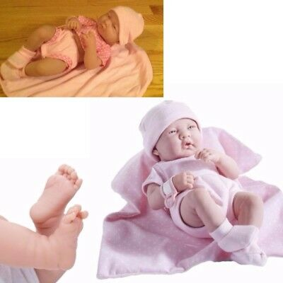 Reborn Baby Dolls 14 Inch Full Vinyl Baby Doll Girl Real Newborn 9 Piece Set