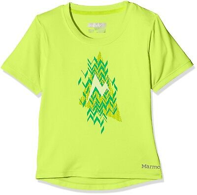 (Large, Hyper Yellow Heather) - Marmot Girl's Post Time Short Sleeves T-shirt,