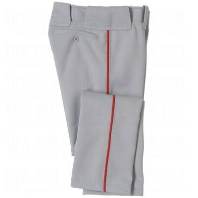 (XX-Large, Grey/Red) - Mizuno Youth Select Pro Piped Pant. Shipping is Free
