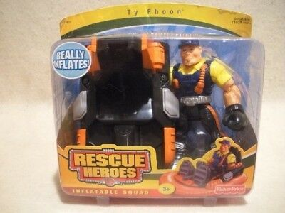 Fisher Price Rescue Heroes Inflatable Squad Ty Phoon & Inflatable Hydrofoil
