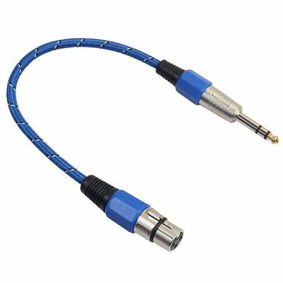 3Pin XLR Female Jack to 6.35mm Male Plug Stereo Microphone Cable Adapter Co H3X3